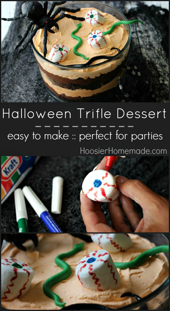 Halloween Trifle Dessert | Perfect for Halloween Parties | HoosierHomemade.com