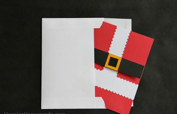 Handmade Christmas Card with Envelope
