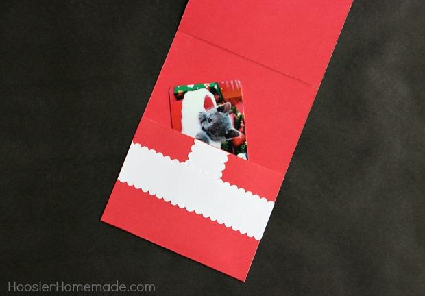 Handmade Christmas Card with Gift Card