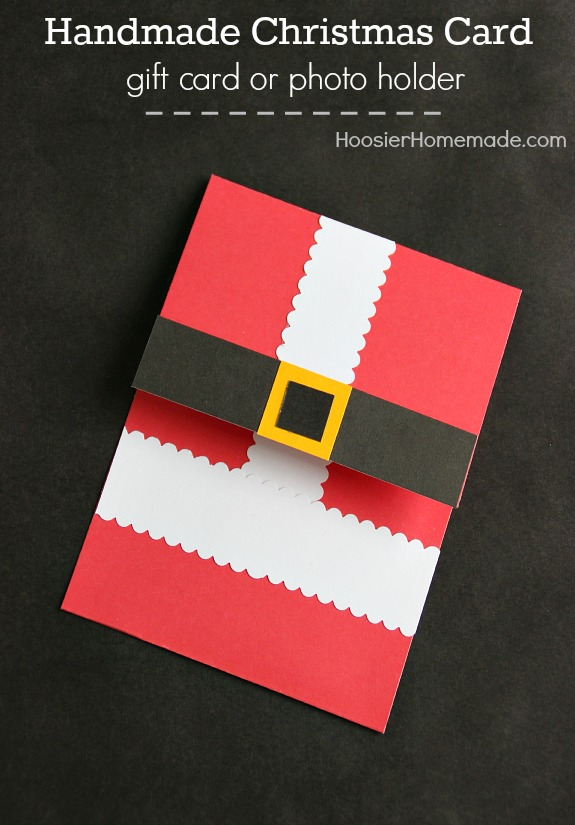 make these handmade christmas cards to hold gift cards or family photos they are easy - Handmade Christmas Cards Ideas