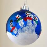 Handprint Snowman Ornament :: 100 Days of Homemade Holiday Inspiration on HoosierHomemade.com