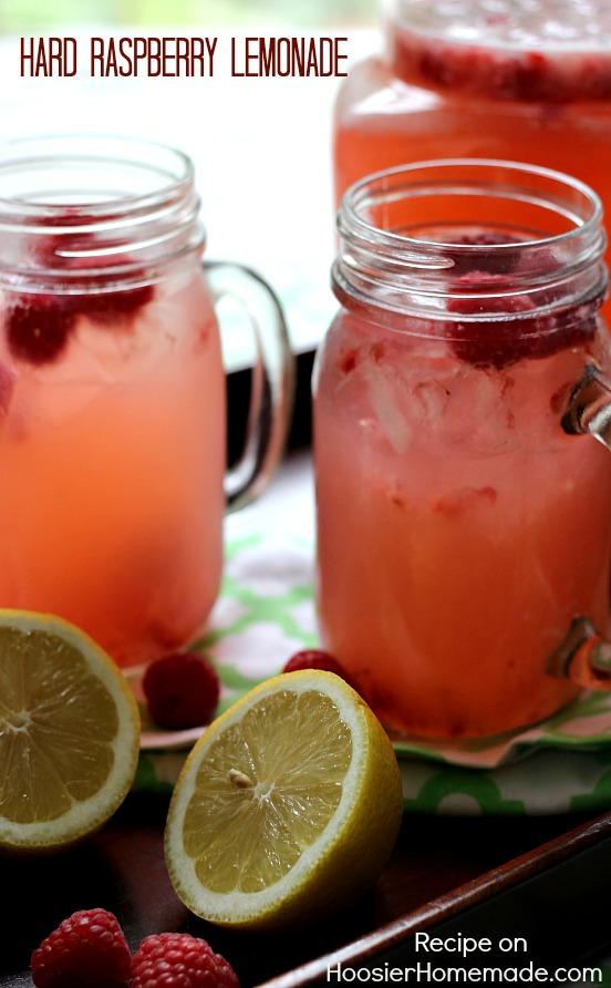 Hard Raspberry Lemonade | Recipe on HoosierHomemade.com