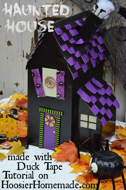 How to make a haunted house with duck tape hoosier homemade for Build a haunted house