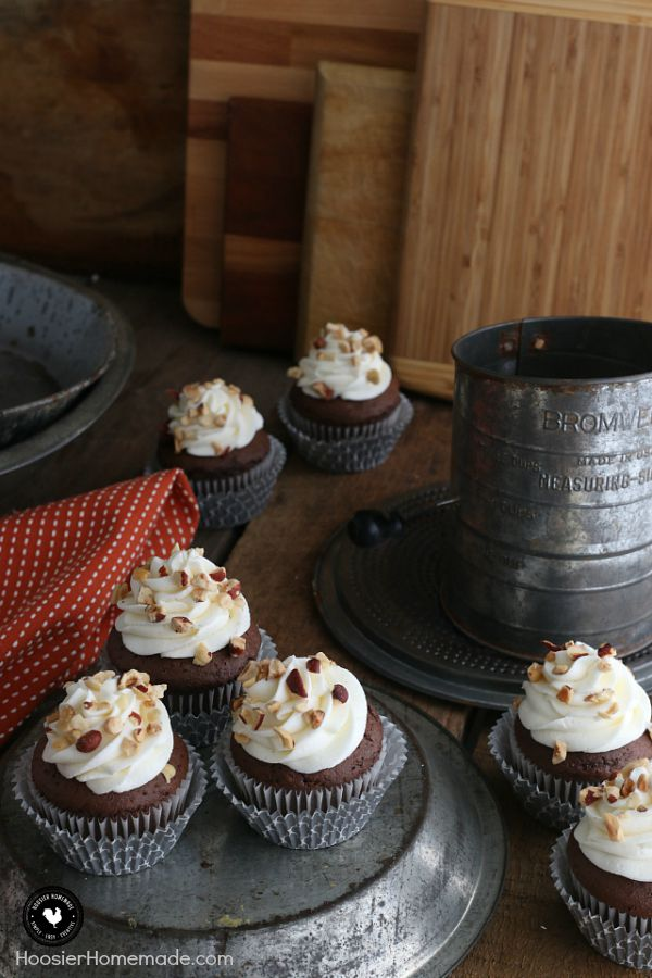 These Delicious Chocolate Hazelnut Cupcakes With Sweet Cream Frosting Are EASY To Make Just