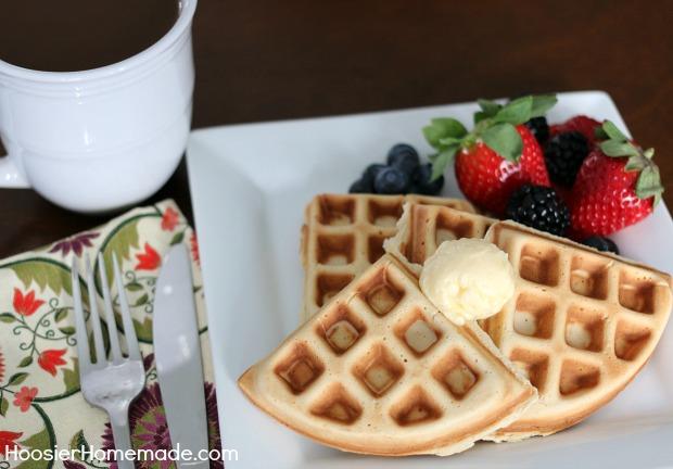 Sugar Free Hazelnut Waffles