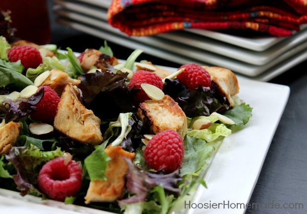 Raspberry Chicken Salad: Healthy 5 Minute Recipe :: on HoosierHomemade.com