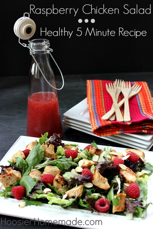 Raspberry Chicken Salad: Healthy 5 Minute Recipe :: on HoosierHomemade.com