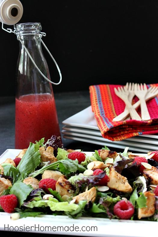 Raspberry Chicken Salad: Healthy 5 Minute Recipe