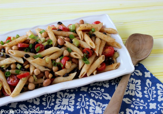 Healthy Three Bean Pasta Salad