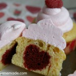 How to Bake a Heart in a Cupcake | Recipe & Instructions on HoosierHomemade.com
