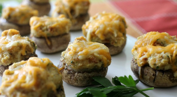 Herb-and-Cheese-Stuffed-Mushrooms-FEATURE
