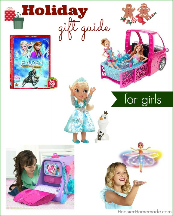 Make gift giving easy with Holiday Gift Guide for Girls! Great gift ideas that won't break the bank! Pin to your Christmas Board!
