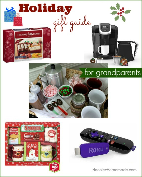 Make gift giving easy with Holiday Gift Guide for Grandparents! Great gift ideas that won't break the bank! Pin to your Christmas Board!