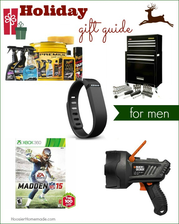 Make gift giving easy with Holiday Gift Guide for Men! Great gift ideas that won't break the bank! Pin to your Christmas Board!