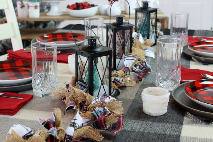 Fabric Garland on table