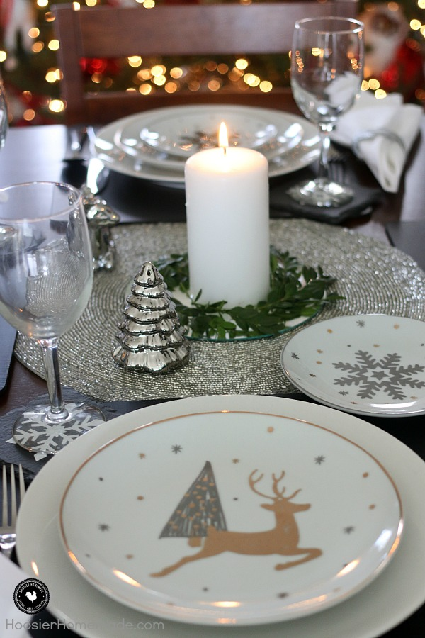 This simple holiday table setting is elegant, beautiful and YES budget friendly too! Enjoy your time with family and friends this Christmas season while you gather around the table. These holiday table decorations couldn't be easier!