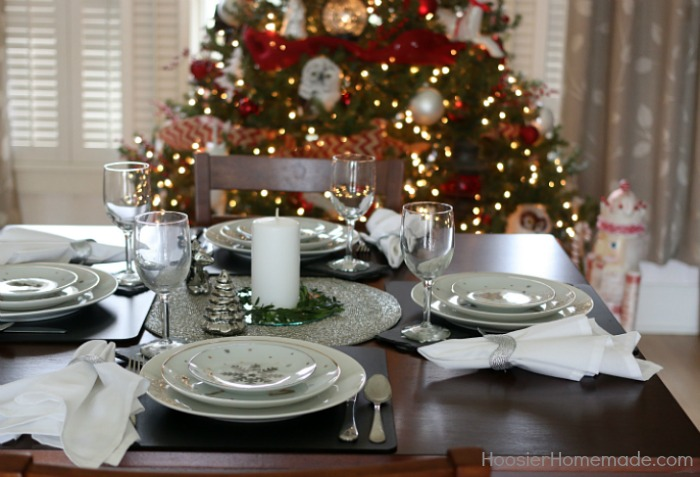 Holiday Table Settings & Simple Holiday Table Setting - Hoosier Homemade