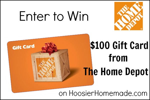 Home Depot $100 Gift Card Giveaway :: Enter on HoosierHomemade.com