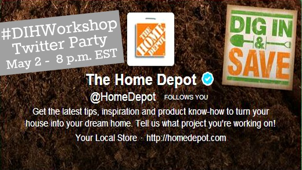 Home Depot Twitter Party #DIYWorkshop