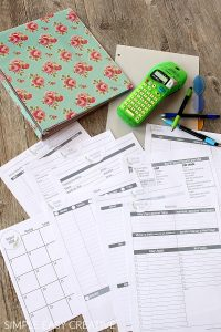 Home Management Binder Free Printables
