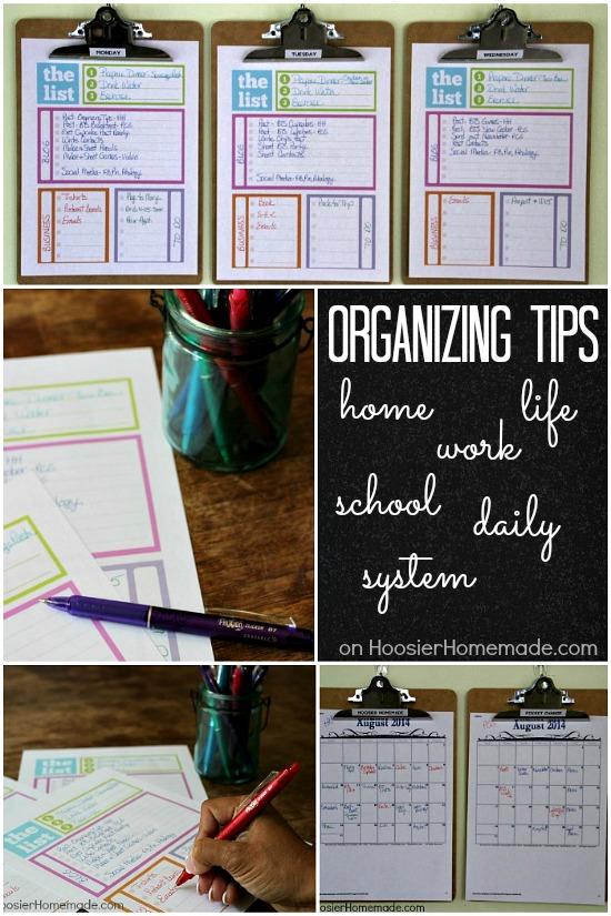 Home Organization Calendar System : Home organizing tips daily system hoosier homemade