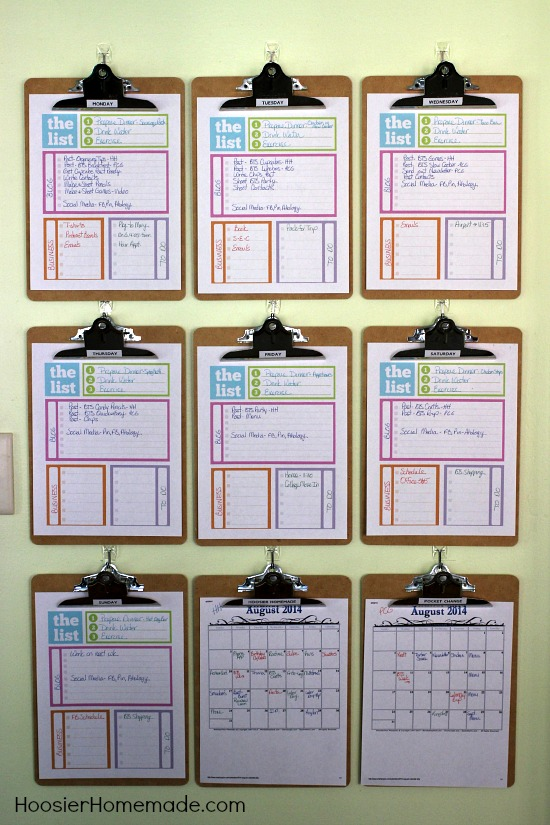 Home Organization Calendar System : Home organizing tips daily system hoosier homemade