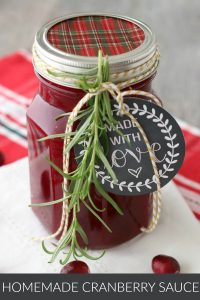 Homemade Cranberry Sauce Gift Idea