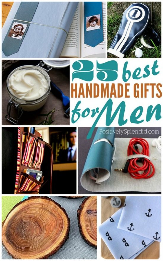 Homemade Gifts for Men | 100 Days of Homemade Holiday Inspiration on HoosierHomemade.com