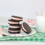 Homemade Oreos with Candy Cane Cream: 100 Days of Homemade Holiday Inspiration on HoosierHomemade.com