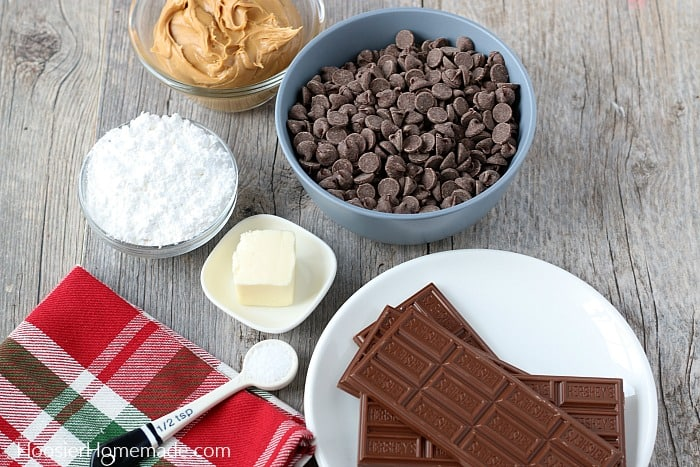 Ingredients to make Homemade Peanut Butter Cups