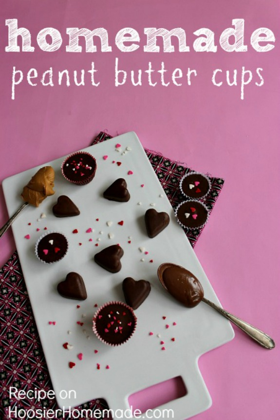 Homemade Peanut Butter Cups - just a few ingredients and you will never eat store bought again! Pin to your Recipe Board!