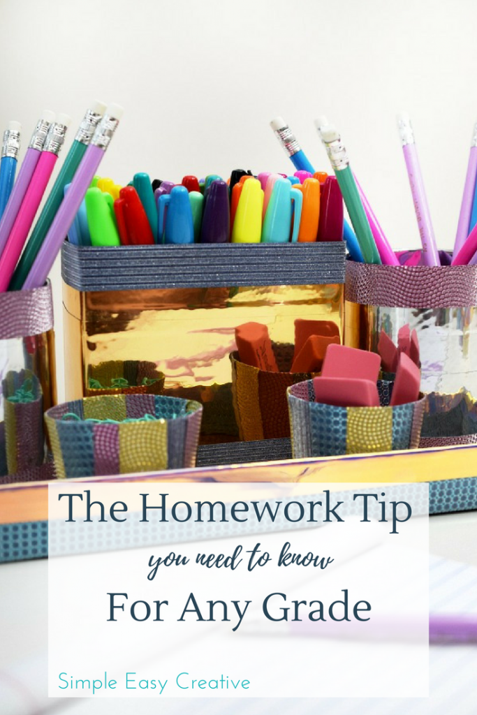 Create a Homework Station- save time by knowing where all of your supplies are!