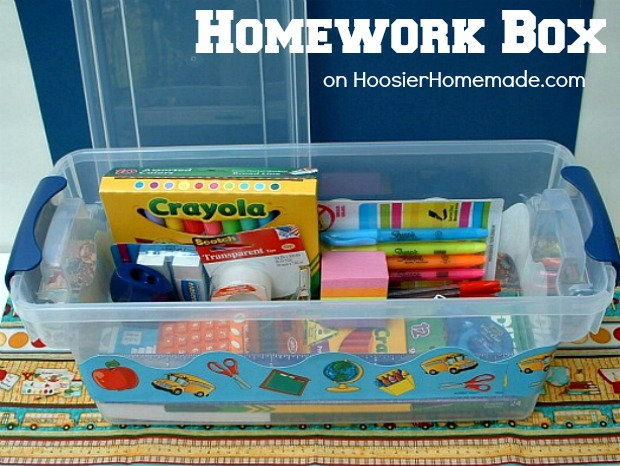 Homework Box :: on HoosierHomemade.com