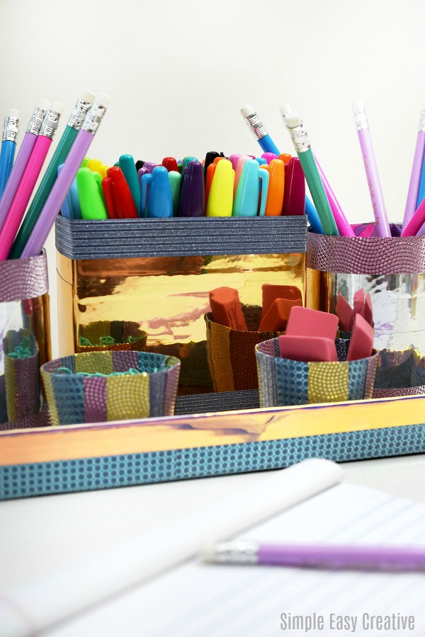 Create a Kids Homework Station- save time by knowing where all of your supplies are!