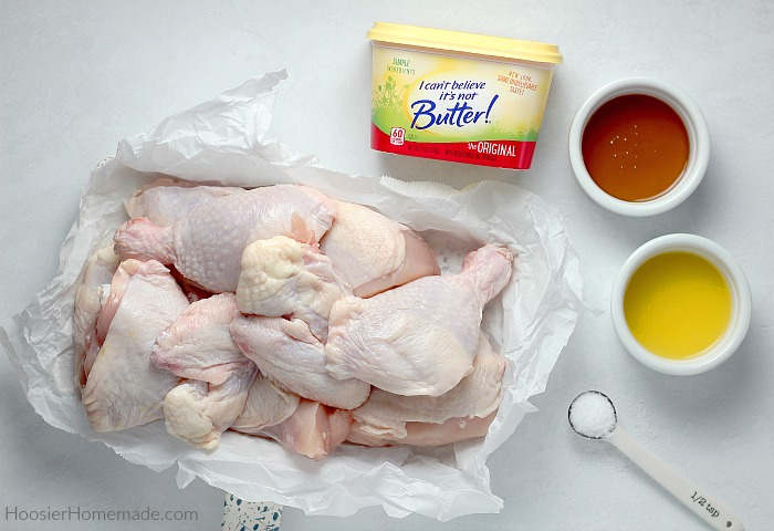 Ingredients for Honey Glazed Chicken