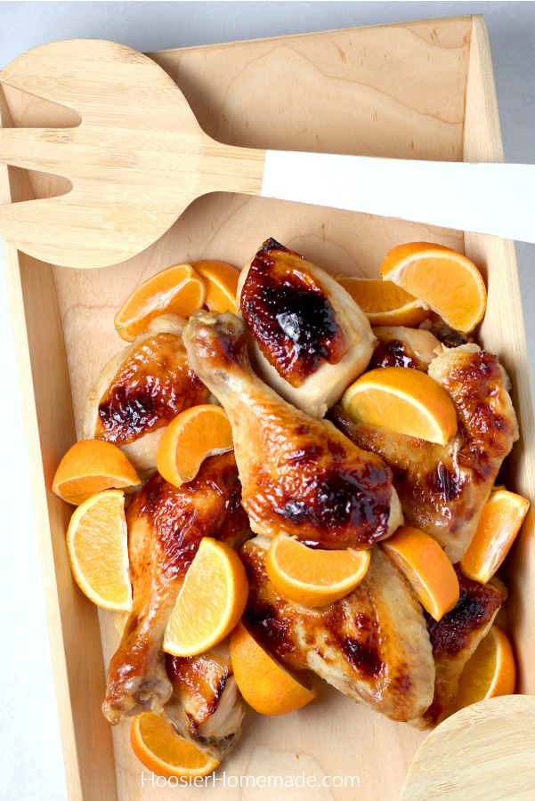 Baked Honey Glazed Chicken in bowl