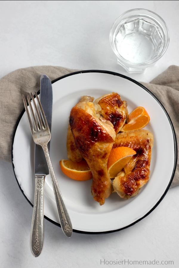 Honey Glazed Chicken on a plate