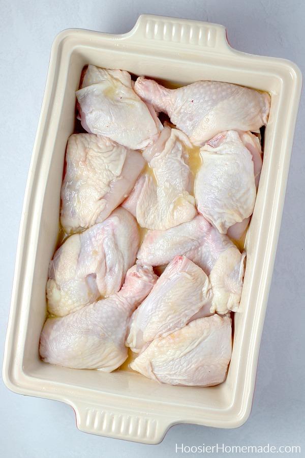 Chicken in baking dish