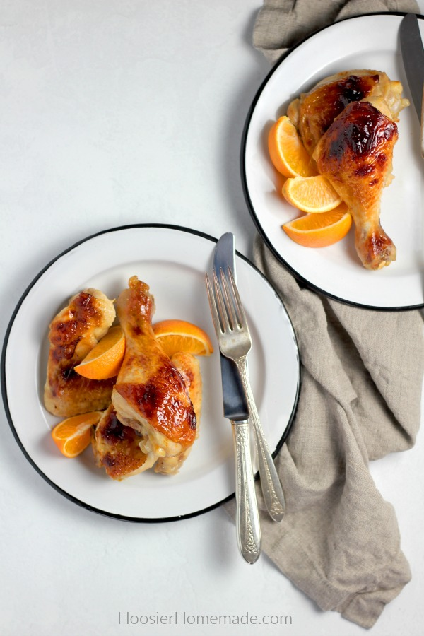 Honey Glazed Chicken on plates