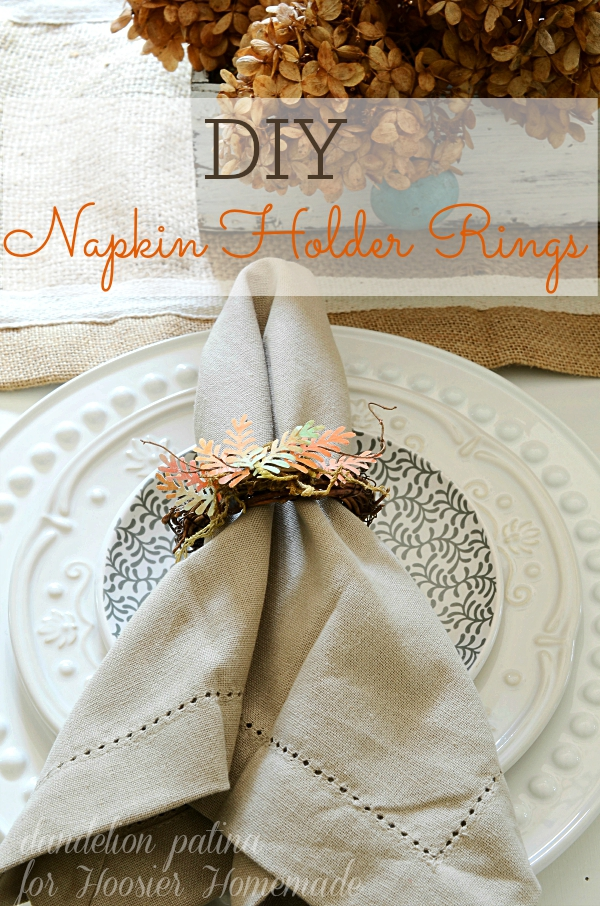 SIMPLE AND INEXPENSIVE! These DIY grapevine napkin ring holders are the perfect creation to display at your fall table. The kiddos can even help with this project! #grapevinewreath #napkinholders