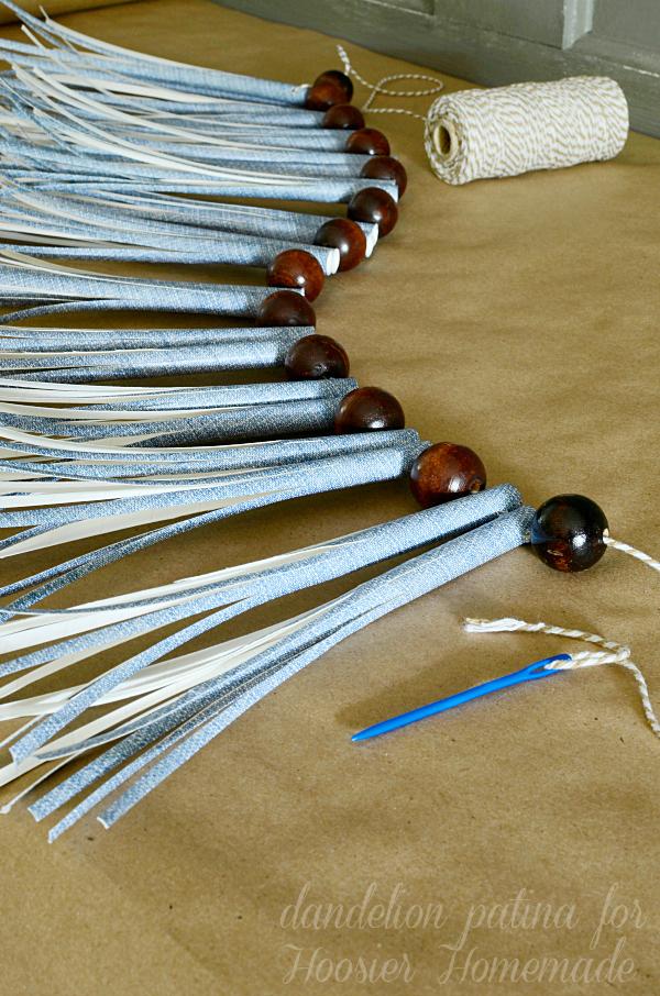 DIY paper straw tassel garland by dandelion patina for Hoosier Homemade