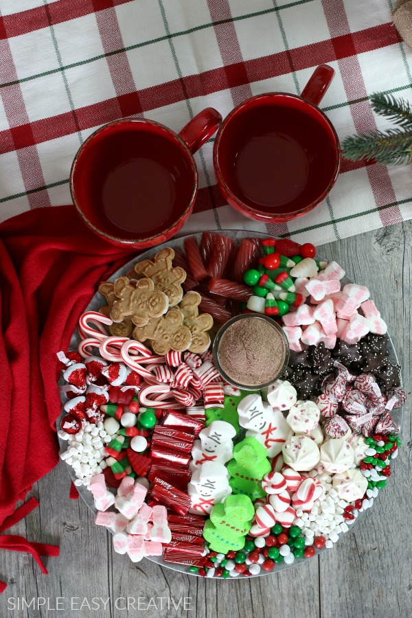 How to make a dessert hot chocolate tray