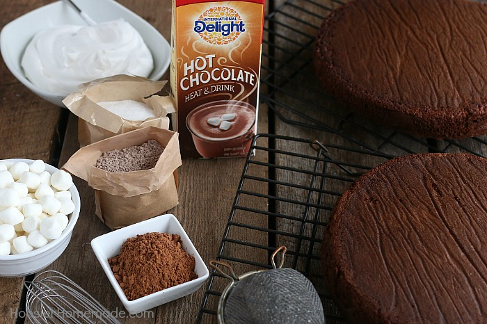 Ingredients to make Hot Chocolate Cake