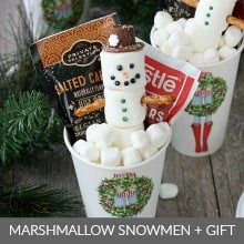Marshmallow Snowmen in Hot Cocoa Cup Gift