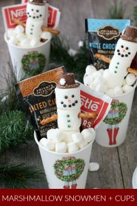 Marshmallow Snowmen in Hot Cocoa Cup
