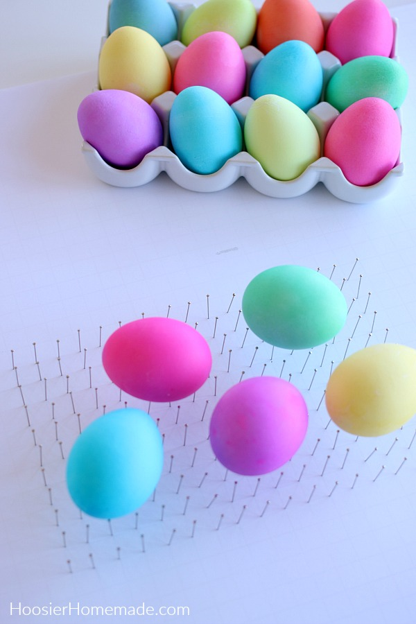 Drying Colored Easter Eggs