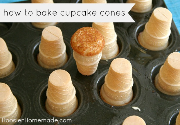 How to Bake Cupcake Cones :: HoosierHomemade.com