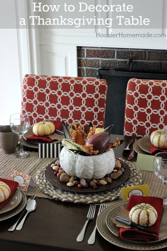 Learn how to decorate a Thanksgiving Table without a lot of money or fuss! Pin to your Thanksgiving Board!