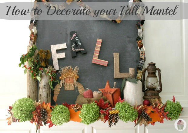 Decorating your Fall Mantel Hoosier Homemade – Fall Mantel Decorations
