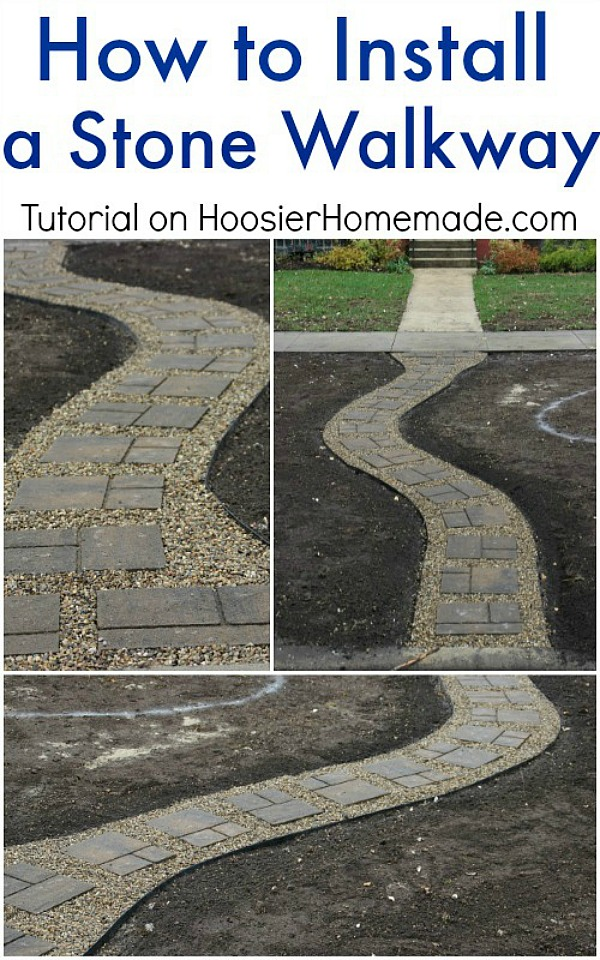 Building Stone Steps And Walkways : How to install a stone walkway hoosier homemade